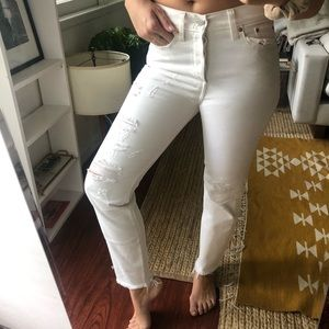 Levi's hight waisted white jeans